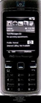 HP iPAQ 512 Vocie Messenger - a voice recorder cell phone