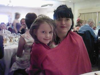 emma and Nimah - My eldest niece and Niamh at my other nieces wedding