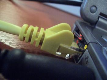 internet connection - It shows the connectivity to the modem throught which we can surf through to internet....