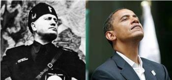 obama and mussolinni - common body posture and lanquage of 0bama and mussolinni