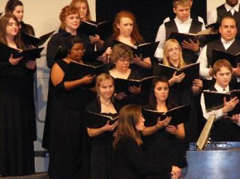 Me at choir festival - This was taken with the choir I was a part of at school last fall when we went to festival in Fort Smith.