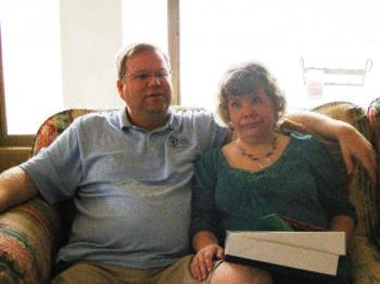 Mike and I on Christmas Day - My daughter took this photo Christmas morning as we were opening presents