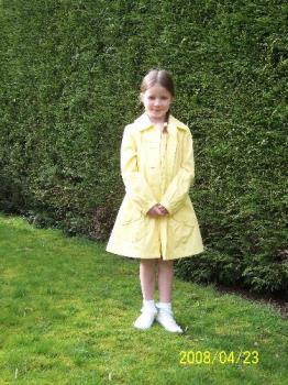 Niamh in last years Easter outfit - The yellow princess in last years Easter outfit!