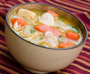 Chicken Soup - A bowl of freshly made chicken noodle soup is just what you need when you're not feeling well.