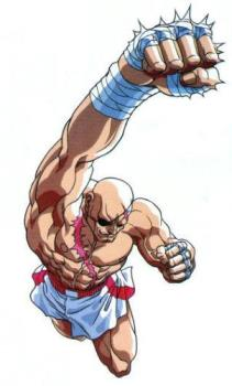 Sagat - One of my favorite Street Fighter character. I like him because of his Muay Thai style like Adon who is Sagat's apprentice. He is Ryu's greatest rival.