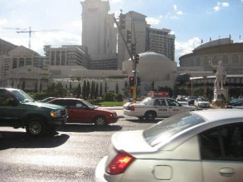 Picture taken on the streets of Vegas - Picture taken on the streets of Vegas. Ceasers Palace taken from across the street.