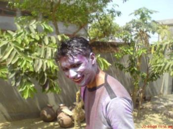 holi-day - Me at the end of it all. Colored and watered.