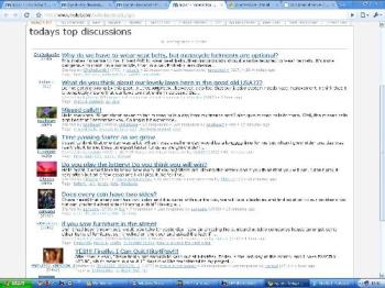 My discussion in top page! - This is the first time I saw my discussion in today's top discussion.