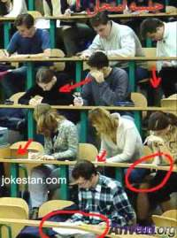 cheating - check the red marks