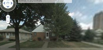 my house according to google! - doesn't it look fancy?