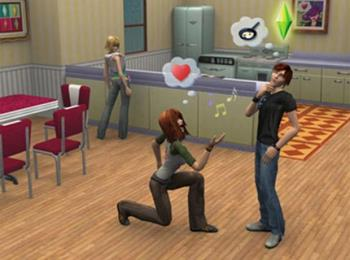 The Sims - This is an image of the gameplay of The Sims