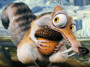 Scrat - Scrat (with his acorn) from Ice Age 3.