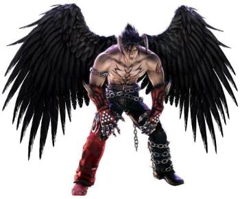 Dark Angel - Character from Tekken 5 Devil Jin portrays of being a dark angel.
