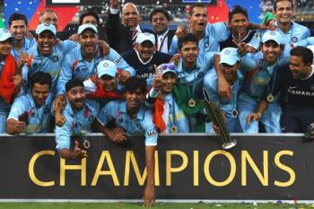 2007 year T20 Champions - India After Victory of the T20 world cup