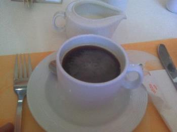 A cup of Coffee - coffee with cream at Pancake House