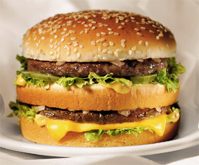 Big Mac - On sale now Buy meal get one for 69 cents... I was hungry for one...