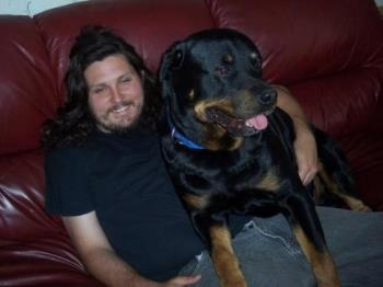 Rowdy - My dog and my brother