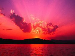 n - beautiful sunset