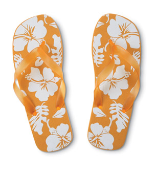 flip flops - assorted colors of flip flops