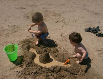My boys in the sand - My 2 youngest boys playing in the sand