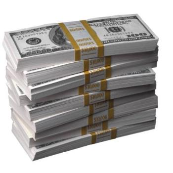 Stack of money - money is crucial to living on earth