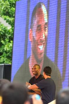Kobe in the house! - Taken at Nike Park, Bonifacio High Street Taguig