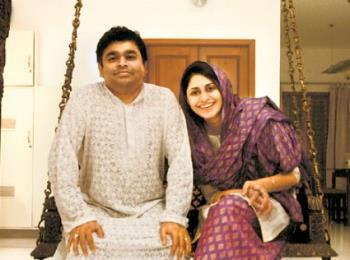 a r rahman and saira banu - a r rahman with his wife saira banu