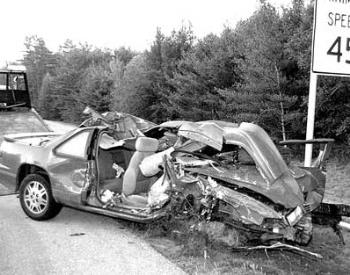 result of moose-car collision - What can happen when you DON'T watch for moose on the roads up here