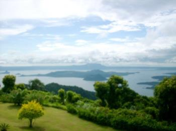 tagaytay city (taal volcano) - Tagaytay City view of taal volcano.