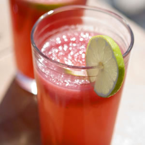 Watermelon Agua Fresca - This is just one of them they have a watermelon basil Margarita also