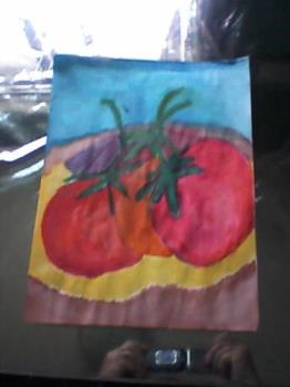 tomatoes - A water color painting