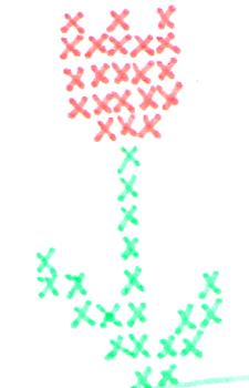 tulip - Simple tulip cross-stitch pattern in two colors, just for you.