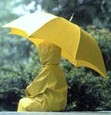 Rain coat & Umbrella - When using an umbrella, the head and shoulders stay dry, but everything else gets wet! Wearing a raincoat offers complete protection from head to toe except the face...lol