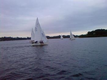 Lough Erne Yachts - Lough Erne Yacht Club at practise..