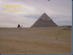 The Great Pyramid of Giza, Egypt - Photo taken by my son on our trip to