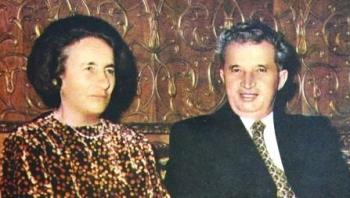 Elena and Nicolae Ceausescu - Nicolae Ceausescu, the former communist leader of Romania alongside his wife, Elena