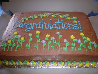 Congrats cake - A cake to fit a celebration enjoy your feast!