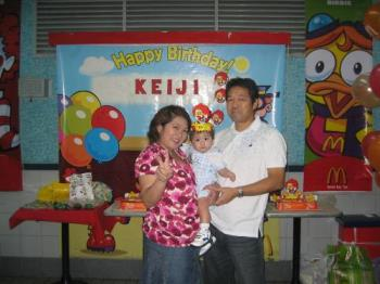 Keiji and his family  - Happy Birthday