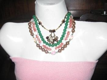 some of the fashion jewelry (necklaces) that i mad - these are a few of the fashion necklaces that i once made