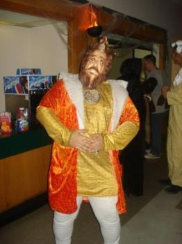 Burger King King  - A picture of a friends halloween costume.
