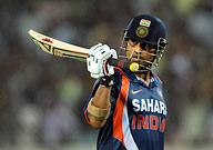 Sachin Tendulkar - Sachin after scoring the 45th one day century