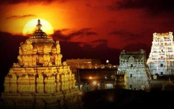 Tirumala Venkateswara Temple - 50,000 to 100,000 pilgrims visit daily. The temple is the richest and the most visited place of worship in the world.[