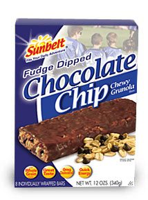 Sunbelt Granola Bars - The best snack ever...Fudge dipped chocolate chip granola bars