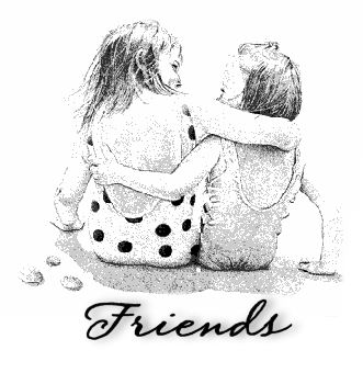 friends - two friends sitting together