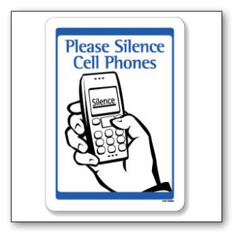 Keep silence - It is common that there are some people who can't keep silence and talk very loudly in their mobile phones.