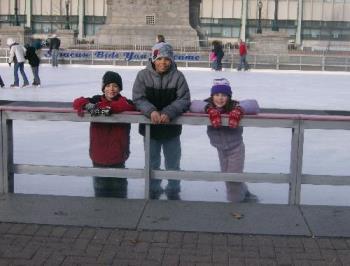 Ice Skating - My older 3 at the skating rink