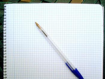 A paper and a pen picture - That's my diary. I write my feelings with simply a pen and a paper so this picture is very inspiring to me.
