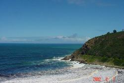 the ocean from the road - Was traveling in South Africa and this is a pic we took of the ocean from the road.