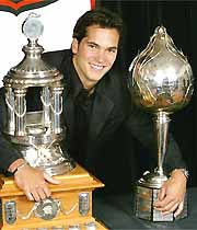 Jose Theodore - Jose Theodore with his trophies