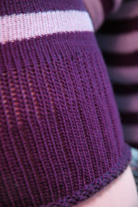 My favorite socks  - Plum and lilac super stripes from sockdreams.com! My favorite socks ever! :D